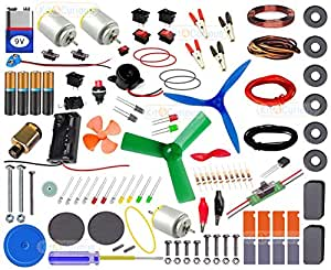 Kit4Curious Super Kit 100 items in a kit - Science & fun innovation Kit with instruction manual for 100 projects