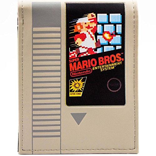 Super Mario Bros Retro NES Cartridge Grau Portemonnaie (Yoshi Muster Kostüm)