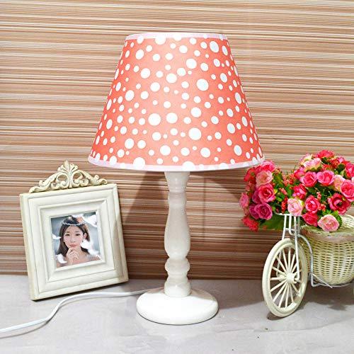 Holztisch Lampe Schlafzimmer LED energiesparende Tischlampe Melone rote Welle Punkt Taste -
