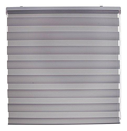 Blindecor Nd200 Store-Double tissu occultant jour et nuit 120 x 250 cm gris