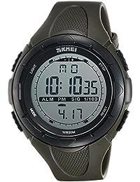 SKMEI Analog-Digital Dial Men's Watch-DG1025 (GENT SIZE ARMY GREEN)