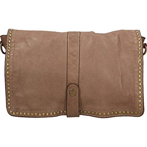 Femme petit sac à main embrayage à épaule Chicca Borse Vintage en cuir véritable Made in Italy 31x22x7 Cm