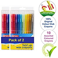 Twistable Crayons Push Up & Colour- No Mess Or Sharpening Needed-Great Pack To Enhance Colouring Skills & Kids Art (2)