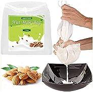 "AMERTEER 2 Pcs Pro Quality Nut Milk Bag - Big 12""X12"" Commercial Grade - Reusable Almond Milk Bag &a"