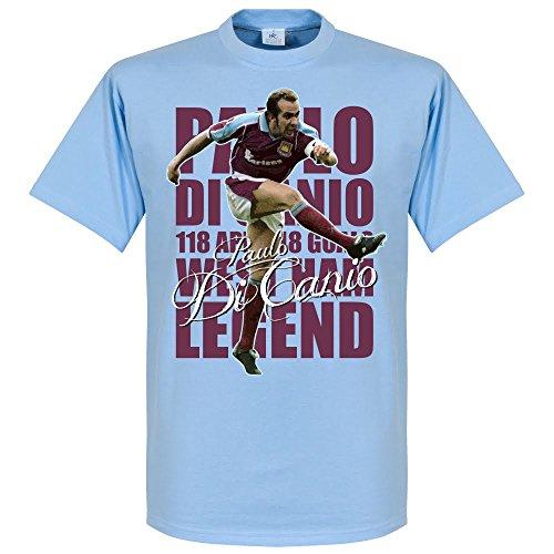 Paulo di canio legend–maglietta cielo, unisex adulto, azzurro