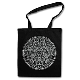 AZTEC MANDALA Shopper Reusable Hipster Shopping Cotton Bag Einkauftasche Einkaufstasche Tasche Stoff Stofftasche Jutebeutel Beutel ? Azteken Indians American Mayans Maya Sign Calendar Mexico