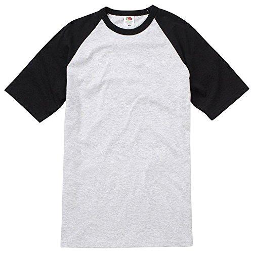 Fruit of the Loom Herren Modern T-Shirt Heather Grey/ Black