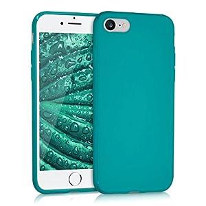 kwmobile Apple iPhone 7/8 Cover - Custodia per Apple iPhone 7/8 in silicone TPU - Backcover protezione petrolio matt