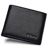 La Gracery echtes Leder Extra-Kapazität Slimfold Wallet (schwarz)