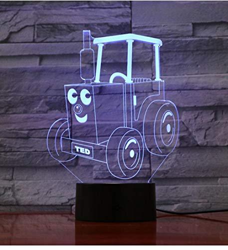 Thomas Und Seine Freunde Nachtlicht Led Lokomotive Cartoon 3D Illusion Kinder Kinder Zug Eisenbahn Motor Tischlampe Schlafzimmer Gadget Touch Switch