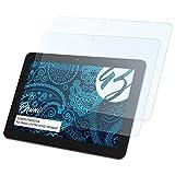 Bruni Schutzfolie für Medion LIFETAB S10321 MD98687 Folie, glasklare Bildschirmschutzfolie (2X)