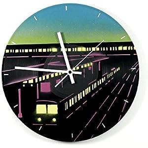 Uhr Wanduhr Berliner S-Bahnhof Vinyluhr Schallplattenuhr