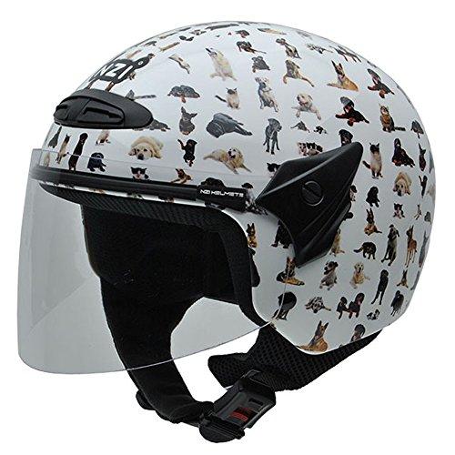 NZI 050269G709 Helix Jr Graphics Bestfriends Motorcycle Helmet, Animal Design, Size 52-53 (L)