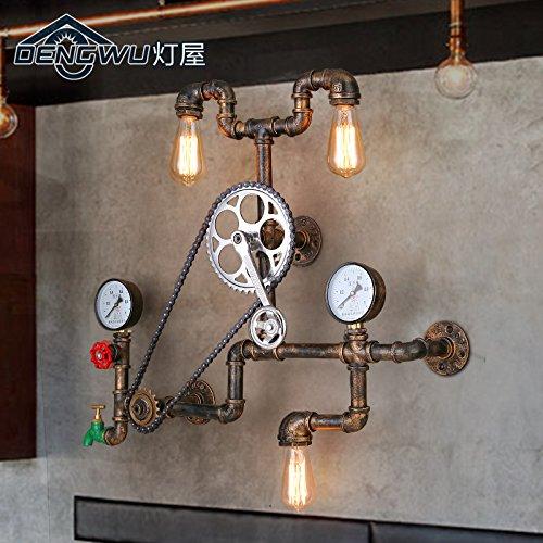 BBSLT Retrò di lampada parete ferro battuto ristorante bar il