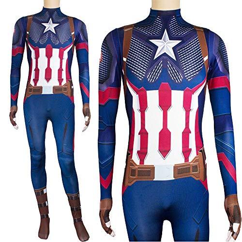 Lydia's Anime Cosplay Kleidung Captain America Cosplay Kostüm Marvel Right Christmas Halloween Kostüm Für Kinder/Erwachsene Wear XL (Halloween Kostüm Captain Weiblich America)