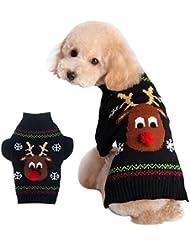 YiJee Navidad Mascota Abrigo Cálido Ropa Perro Suéter Géneros De Punto