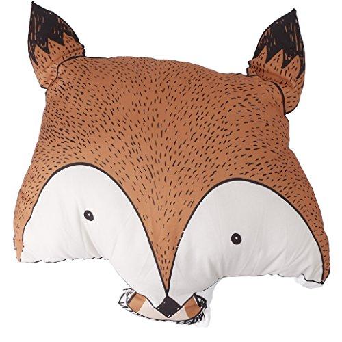 Longsw Baumwollkissen Fox Kissen Plüsch Stofftier Stofftier Puppe Baby Kind Kinder Geburtstagsgeschenk