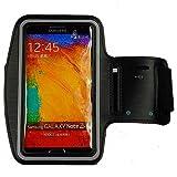 ABZ-S Sport Armband Tasche für Samsung Galaxy Note 3, Note 2 und Note - schwarz