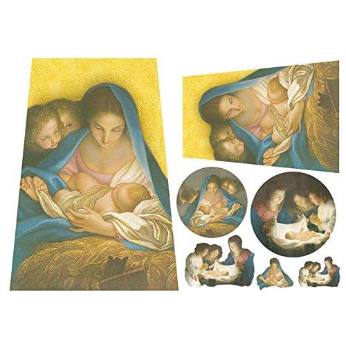 carta-di-riso-tegola-madonna-con-bambino-stamperia-dfs084
