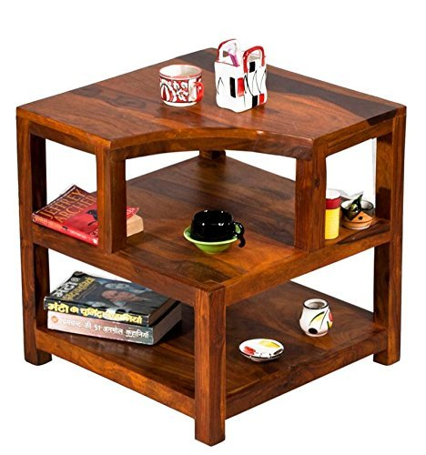 TimberTaste Opal Solid Wood Side Table (Teak Finish)  available at amazon for Rs.6299