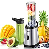Mini Blender, Decen Blender à Smoothie, Mixeur Blender, 2 x 600 ml Bouteilles Tritan...