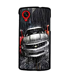 PrintDhaba Car D-5507 Back Case Cover for LG GOOGLE NEXUS 5 (Multi-Coloured)