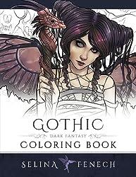 Gothic - Dark Fantasy Coloring Book: Volume 6 (Fantasy Art Coloring by Selina)
