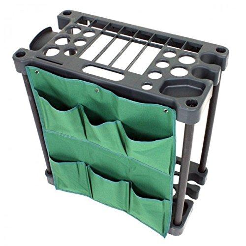 Gartengeräte-Ständer aus Kunststoff 58x31x60cm Aufbewahrung Universal Halterung