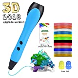 3D Stift Set 3D Stereoscopic Printing Pen Drawing, 3 x 3M PLA Filament 12 Farben, Intelligent mit LCD-Bildschirm, Freihand 3D Zeichnungen, für Kinder Erwachsene Kunstwerken