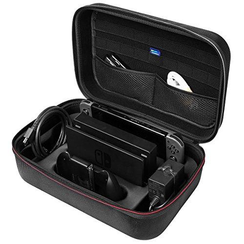irealist mit Tasche für die Schutzhülle Nintendo Switch Hard Travel Carry Case Große Kapazität Tasche Nintendo Schalter Konsole und Zubehör Carrying Case for Nintendo Switch