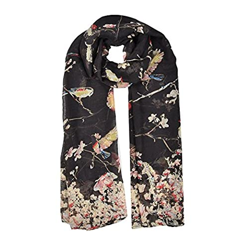 Birds Lady Fashion Stylish Soft Scarf Shawl Neck Wrap Stole (Tree)
