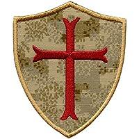 Pencott Sandstorm Crusaders Templar Cross US Marina Navy Seals DEVGRU Embroidered Velcro Toppa Patch