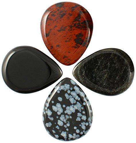 las-piedras-de-lava-mezcl-los-estao-de-cuatro-selecciones-de-la-guitarra-juego-de-4
