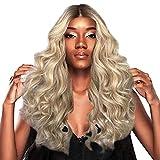 FAMILIZO Pelucas Mujer Pelo Natural Largo Corto Postizos De Pelo Natural Hombres Mujer Moda Dama Gran Onda Gradación Peluca Dorada Pelo Rizado