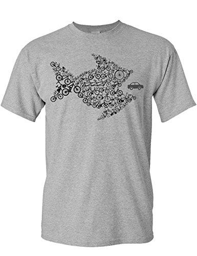Camiseta de Bicileta: Organize ! - Regalo para Ciclistas - Bici - BTT - MTB - BMX - Mountain-Bike - Downhill - Regalos Deporte - Camisetas Divertida-s - Ciclista - Retro - Fixie-Bike Shirt (XL)