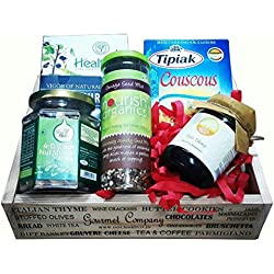 Birthday & Anniversary Gift Box of Tulsi Honey, Go Nuts - Dry fruits , Organic Seeds and other Healthy Protein rich Diet Food in a Wooden Crate