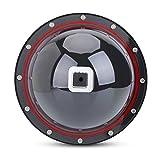 TELESIN Dome Port Objektiv für GoPro Kamera Zubehör, Gegenlichtblende Unterwassergehäuse Dome Port Kameratasche für Gopro 4/5 Session