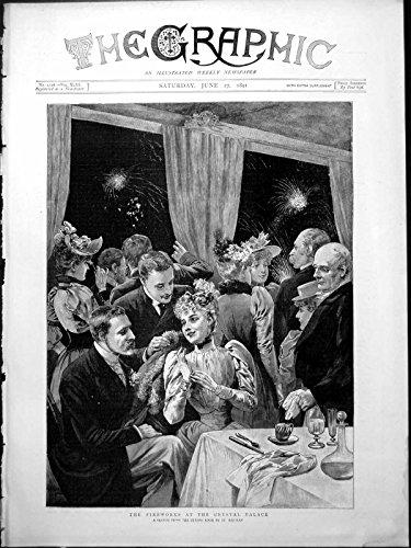 Stampa Antica del Monocolo Floreale 1891 dei