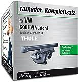 Rameder Komplettsatz, Dachträger SquareBar für VW Golf VI Variant (115961-08442-26)