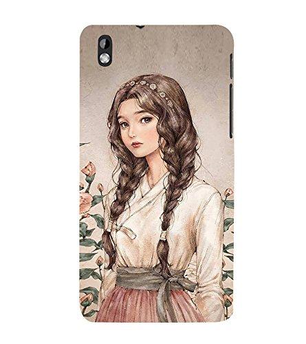 Cute Girl 3D Hard Polycarbonate Designer Back Case Cover for HTC Desire 816 :: HTC Desire 816 Dual Sim :: HTC Desire 816G Dual Sim