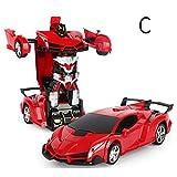 Eine Taste Verformung RC Auto 2In1 Sportwagen Transformation Roboter Modelle Fernbedienung Verformung Auto RC Kampf Spielzeug Geschenk