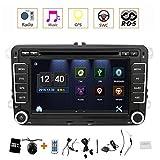 Eunavi Auto GPS-Stereo mit Navigation eunavi 7in 2DIN Auto-DVD-Player für VW PASSAT B6 Golf 5 6 Polo passatcc Jetta Tiguan Touran Eos Sharan Scirocco Caddy HD mit GPS Sat Navi Karte Integriertes