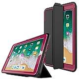 PROTECK iPad Air 2 Hülle -Schutzhülle mit【integrierter Schutzfolie】+【Ständer Funktion】+【Auto Einschlafen/Aufwachen】- Lila