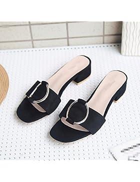 Verano nuevo sandalias planas de verano femenino sandalias zapatillas de moda casual zapatos salvajes con zapatos...