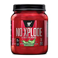 BSN N.O.-Xplode Pre Workout Powder with Creatine Monohydrate, Beta Alanine, Caffeine, Vitamin D & Vitamin B Complex by BSN - Blue Raspberry, 50 Servings, 1kg