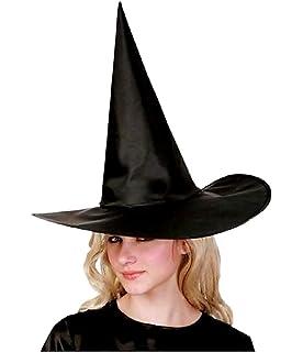Gli adulti Strega Cappello nero con velo HALLOWEEN GOTHIC COSTUME CAPPELLO parte