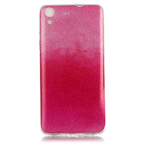 For Huawei Y6 / Honor 4A Case Cover, Ecoway TPU Clear Soft Silicone Back Colorful Printed Silicone Case Protective Cover Cell Phone Case for Huawei Y6 / Honor 4A - YH-08