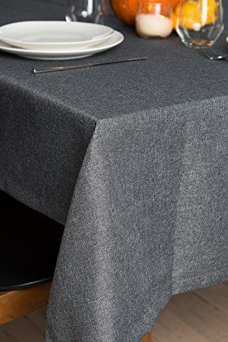 Rollmayer abwaschbar Tischdecke Wasserabweisend/Lotuseffekt (Melange Aschgrau 20, 150x350cm) Leinenoptik Tischtuch mit pflegeleicht Fleckschutz, Rechteckig, Farbe & Größe wählbar (Neueste Hp-drucker)