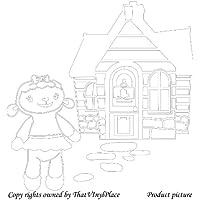 Assemblea e lampada a parete Sticker 60cm x 60cm colore bianco Disney, medico, Camera da letto, stanza dei bambini Adesivi, vinile auto, Windows e adesivo parete, Windows Art, decalcomanie, Ornamento vinile ThatVinylPlace