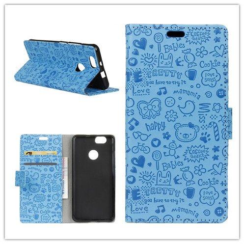 Funda   Capirotazo Billetera Funda para Huawei Y6 Pro 2017  Huawei P9 Lite Mini Huawei Enjoy 7  Azul
